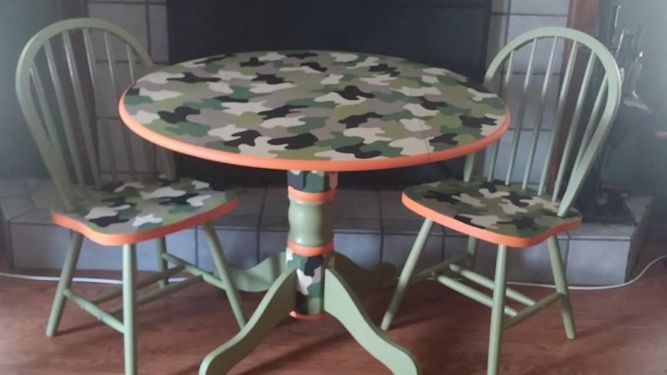 Camo End Tables Easy Craft Ideas